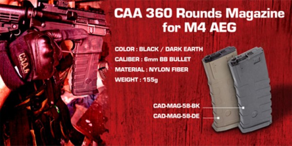 CAA Airsoft Devision - M4 360rds mags