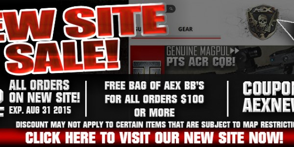 AEX NEW WEBSHOP ROLLOUT SALE!
