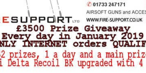 Firesupport £3500 prize giveaway