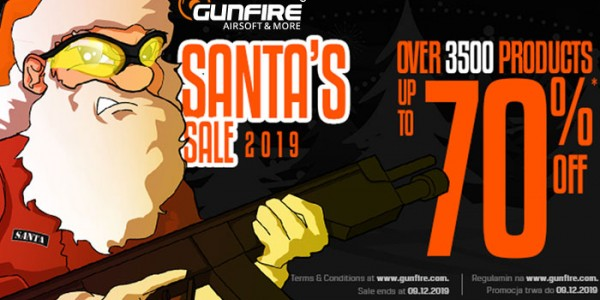 Gunfire Santa Sale 2019 up to 70% discount!