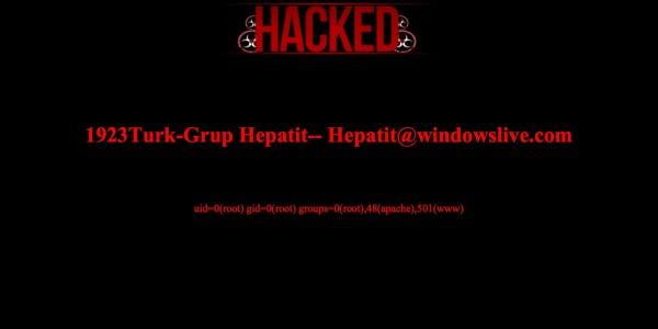 Evolution website defaced