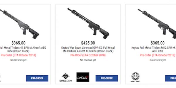 KRYTAC new models Oktober 2018