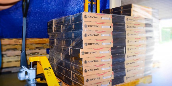 KRYTAC shipment started in Europe!