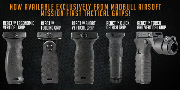 Madbull Airsoft: Licensed MFT Vertical Grips
