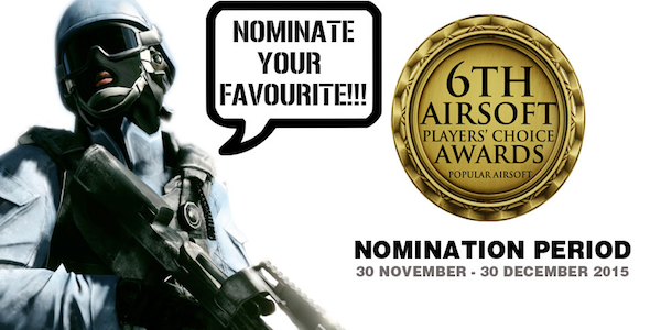 The Nominations Are Open For The 6th Airsoft Players' Choice Awards!