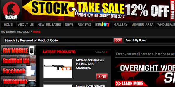 RedWolf Airsoft is now having a Stock Take Sale