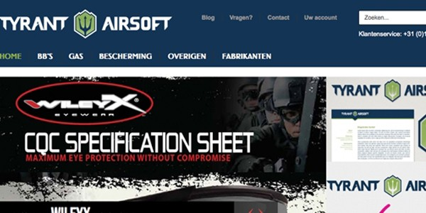 TyrantAirsoft.com about to open